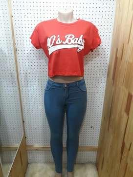 Remera más jeans