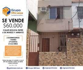 Venta casa 2 plantas bolivia y 6 de marzo