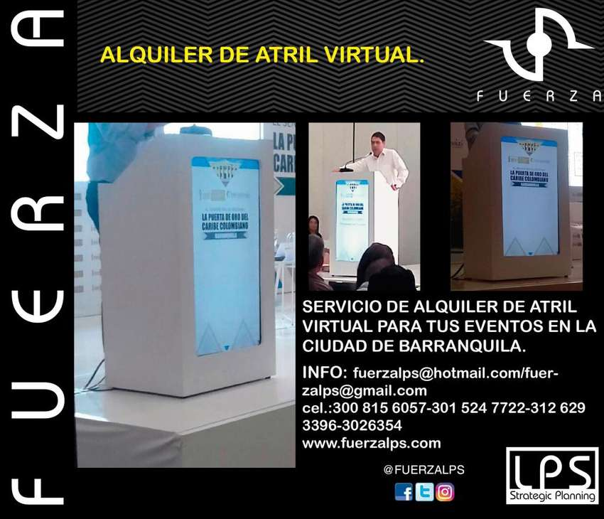 ALQUILER DE ATRIL VIRTUAL BLANCO. 0