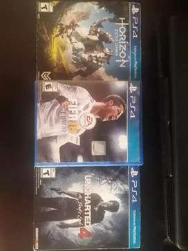 Vendo 3 juegos de para PS4