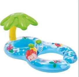 Flotador Intex 56590 Para Bebé Y Adulto Techo Palmera