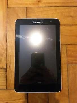 "Tablet Lenovo pantalla 8"" usada funciona bien"
