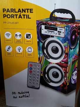 Parlante Bluetooth, Usb, Sd, Radio FM Nex D5 Recargable
