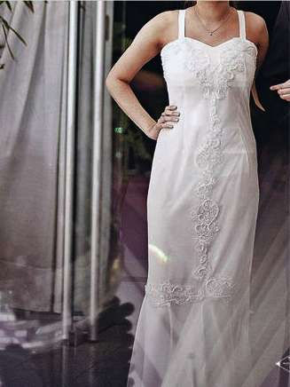Vestido Largo Color Crema Nakkar Mod. 0