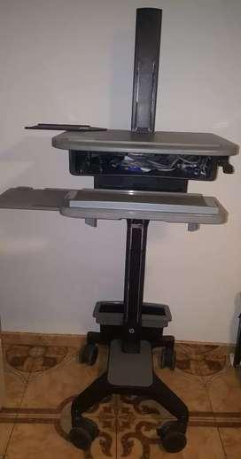 Mesa escritorio centro de trabajo ajustable a cualquier altura tambien sostiene teclado y mause
