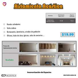 Aislamiento Acústico para Departamentos, Salas de cine, dormitorios, salas de estar (insonorización)