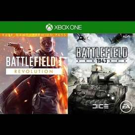 Battlefield 1 Revolution y Battlefield 1943 Xbox One Codigo Global