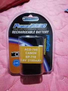 Bateria para cámara canon ref, ACD-785 CANON BP-718