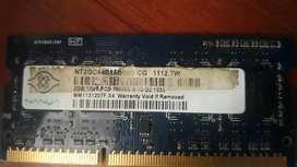 Memoria RAM 2 GB ddr3 portatil