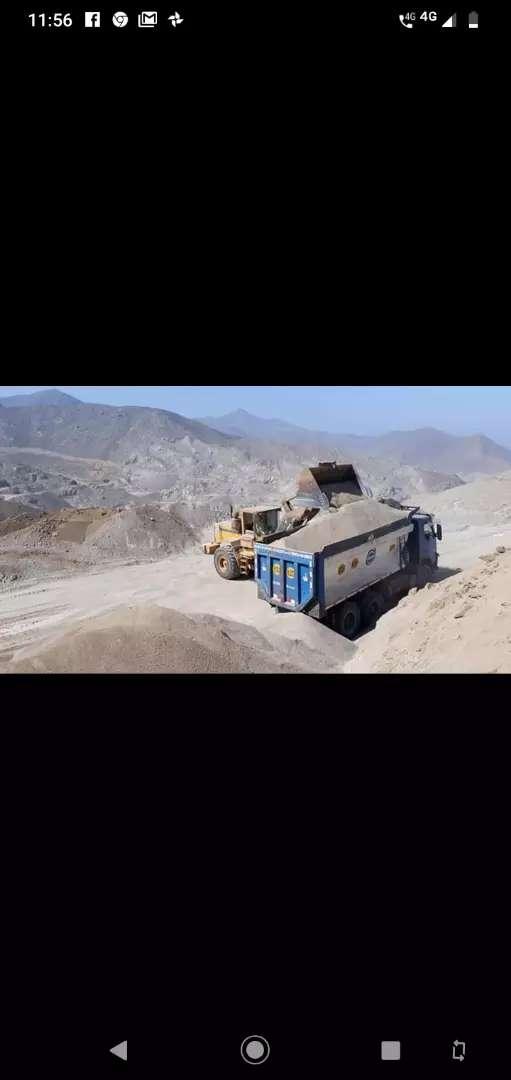 Venta de agregados arena gruesa arena fina hormigón  piedra Chancada balasto canto rodado afirmado confitillo DESMONTE 0