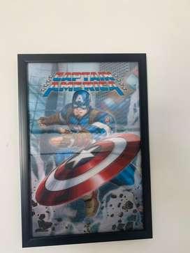 Cuadros 3D Marvel Super Heroes Spiderman Capitan America