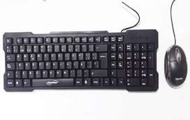 Combo Teclado + Mouse 3 Botones Alámbrico Usb Ecotech