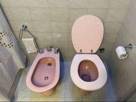 Juego de artefactos de baño Ferrum rosado completo
