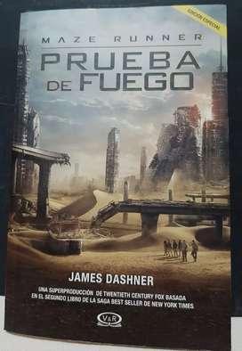 Libro de la trilogía Maze Runner (Prueba de Fuego)