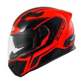 Casco Zeus 813 Naranja para Motociclistas