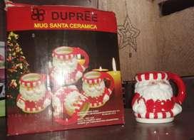 Mug Papa Noel x 4 Piezas Marca Dupree