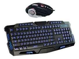 Kits Nuevos Teclado y Mouse Gamer Retroiluminado RGB