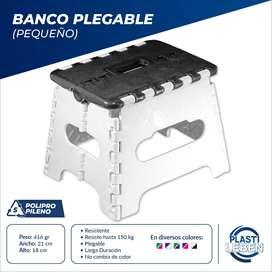 Silla Plegable Portable, Taburete, Banco Plástico
