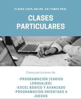 CLASES PARTICULARES  PROGRAMACIÓN