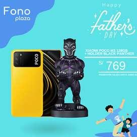 Celular Xiaomi Poco M3 128gb + Holder Black Panther