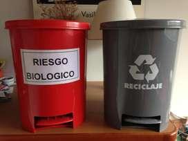 Canecas Riesgo biológico y Reciclaje