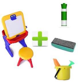 Mesa Escritorio Pupitre Tablero Infantil +silla Niña Juguete