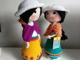 Muñecos tejidos amigurimis