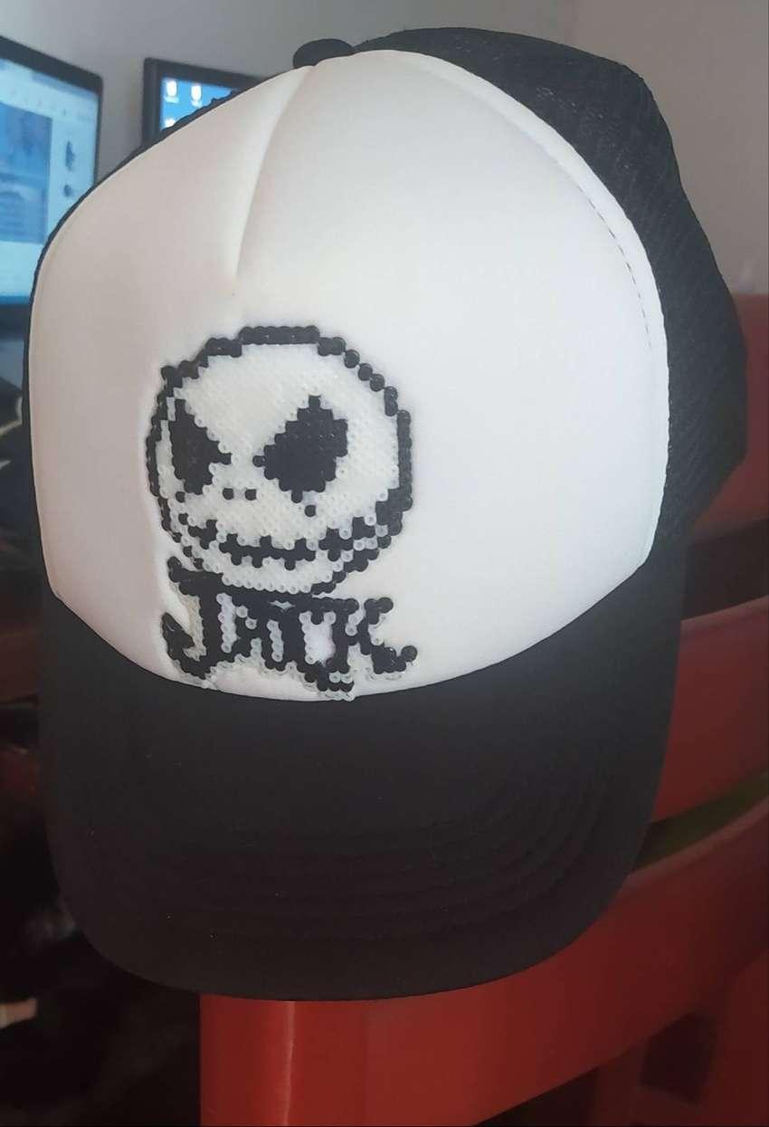 Gorra Negra Jack Skellington Pixel Arts