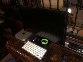 Mac mini i5 500gb ssd monitor curvo 24 apple