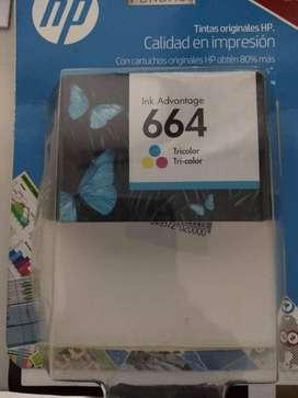 venta de cartucho impresora HP a color 664