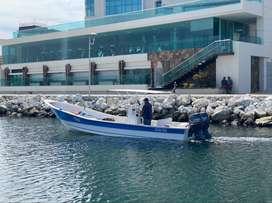 lancha pesquera nueva 27 pies consola central