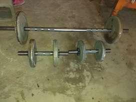 Discos   de 2.5 de 5  y de 10  mancuernas a rosca  y barras  110 cm 150cm 220cm mancuernas masisa de 2kg de 5kg