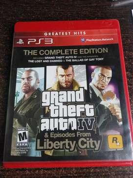 CD PS3 GRAND THEFT AUTO IV COMPLETE EDITION