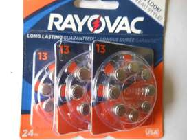Pilas Para Audifonos Rayovac 13 Nuevo Estilo