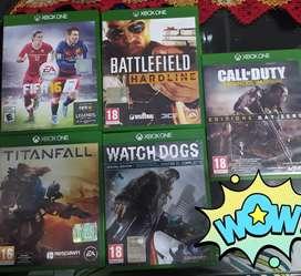 Vendo juegos Xbox one