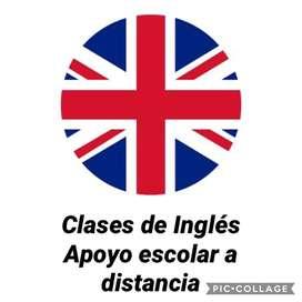 Clases de Ingles y Apoyo escolar a distancia