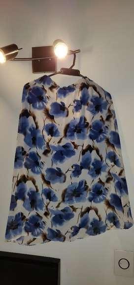 Falda Flores Azules