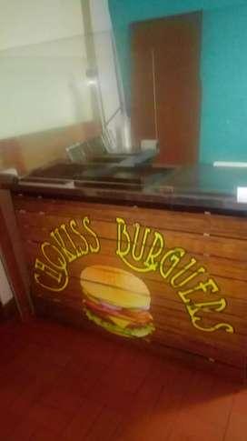 Mueble para comidad rapidas