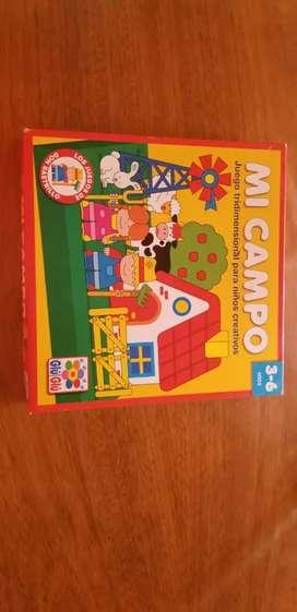 Juego de mesa para niños Mi Campo