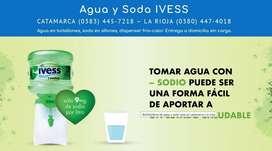 Agua en botellon, soda y dispenser IVESS - La Rioja