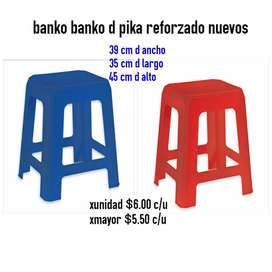 Banco Plastico Reforzado Pika Nuevo