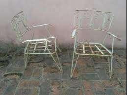 Sillones Hierro Antiguo Vintage-retro Son 2 Sillones