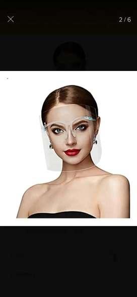 Careta Protectora facial con marco de gafa
