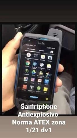 Smartphone  antiexplosivo norma Atex zona 1/21dv1 certifocacion ip 67