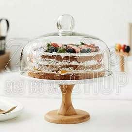 Porta torta de vidrio de 27 cm