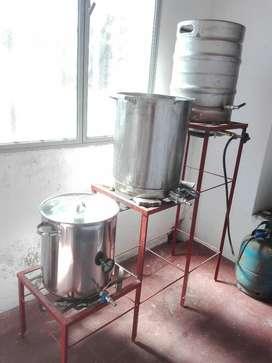 Equipo Cerveza Artesanal 50 Litros Acero
