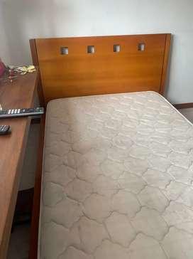 Cama en madera maciza 1.20 x 1.90