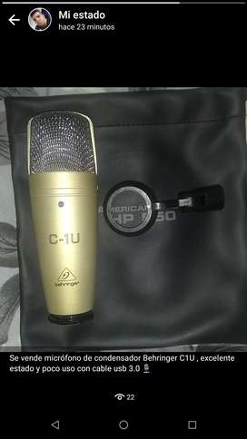 Micrófono de condensador Behringer C1U