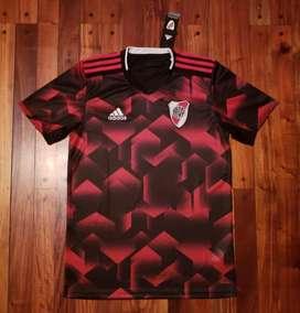 Camiseta River Plate suplente negra roja 2019