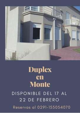 Duplex en Monte Hermoso